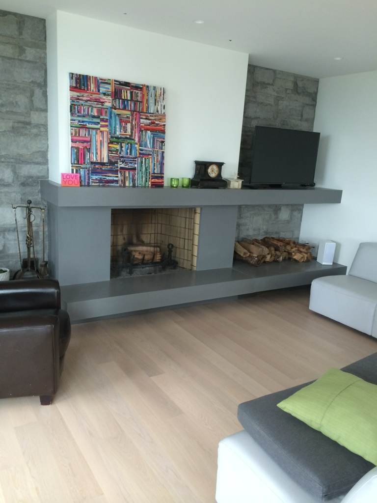 Fireplace surrounds concrete lifestyles vancouver for Modern living room furniture vancouver